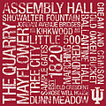 Indiana College Colors Subway Art Poster by Replay Photos