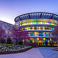 Indianapolis Museum of Art Blue Hour Lights Print by David Haskett