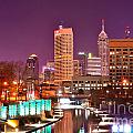 Indianapolis Skyline 200 Poster by David Haskett