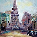Indy Circle Back-lit Print by Donna Shortt