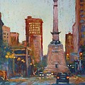 Indy Circle- Twilight Print by Donna Shortt