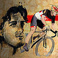 Ink portrait illustration print of Cycling Athlete Fabian Cancellara Print by Sassan Filsoof