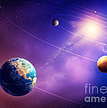 Inner solar system planets Print by Johan Swanepoel