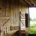 Inside an Indiana Barn Print by Julie Dant