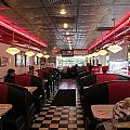 Inside The Diner Print by Randall Weidner