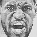 Intensity Lebron James Print by Tamir Barkan