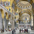 Interior Of San Marco Basilica, Looking Poster by Italian School