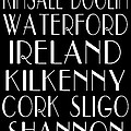 Irish Cities Subway Art Print by Jaime Friedman