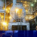Iron ore processing Poster by Science Photo Library