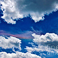 Irridescent Rainbows Among The Clouds Poster by Janice Rae Pariza