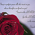 Isaiah 26 3 4 Poster by Inspirational  Designs