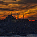 Istanbul Sunset - A Call to Prayer Poster by David Smith