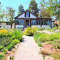 Jack London Countryside Cottage And Garden 5D24565 Poster by Wingsdomain Art and Photography