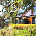 Jack London Countryside Cottage And Garden 5D24570 long Poster by Wingsdomain Art and Photography
