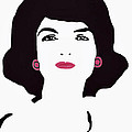 Jackie Kennedy Signature Pink Lips Print by Jost Houk