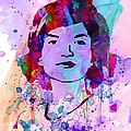 Jackie Kennedy Watercolor Print by Irina  March