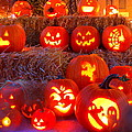 JackO'Lanterns Poster by Suzanne DeGeorge