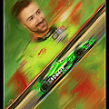 James Hinchcliffe Print by Blake Richards