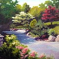 Japanese Garden At Cheekwood Print by Janet King