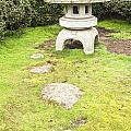 Japanese Stone Lantern Hamilton Gardens New Zealand Print by Colin and Linda McKie