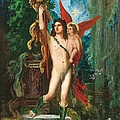 Jason and Eros Print by Gustave Moreau