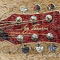Jay Turser Guitar Head - Red Guitar - Digital Painting Poster by Barbara Griffin