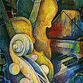 Jazzy Cello Poster by Susanne Clark
