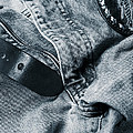 jeans and denim in blue Print by Christian Lagereek