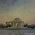 Jefferson Memorial at Dusk Poster by Terry Rowe