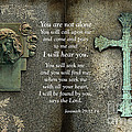 Jesus and Cross - Inspirational - Bible Scripture Print by Kathy Fornal