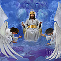 Jesus enthroned Print by Tamer and Cindy Elsharouni