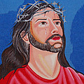 Jesus hand embroidery Print by To-Tam Gerwe