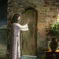 Jesus Knocking on the Door Poster by Cecilia  Brendel