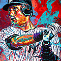 Jeter at Bat Poster by Maria Arango