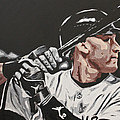 Jeter  Print by Don Medina