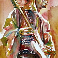 JIMI HENDRIX PLAYING THE GUITAR PORTRAIT.3 Poster by Fabrizio Cassetta