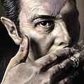 Joe Strummer-Burning Lights Print by Reggie Duffie