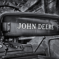 John Deere Tractor BW Print by Susan Candelario
