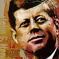 John F. Kennedy Print by Corporate Art Task Force