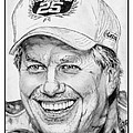 John Force in 2010 Print by J McCombie