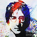 John Lennon stencil portrait by Pixel Chimp