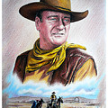 John Wayne Captured Poster by Andrew Read