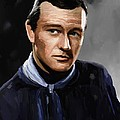 John Wayne in Stagecoach Poster by Robert Wheater