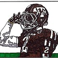 Johnny Manziel 2 Poster by Jeremiah Colley