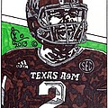 Johnny Manziel 6 Print by Jeremiah Colley