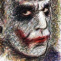 Joker - Pout Print by Rachel Scott