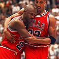 Jordan and Pippen Poster by Paint Splat