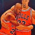 Jordan And Pippen Poster by Yechiel Abramov