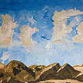 Joshua Tree National Park and Summer Clouds Print by Carolina Liechtenstein