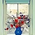 Jug of flowers Poster by Tom Gowanlock